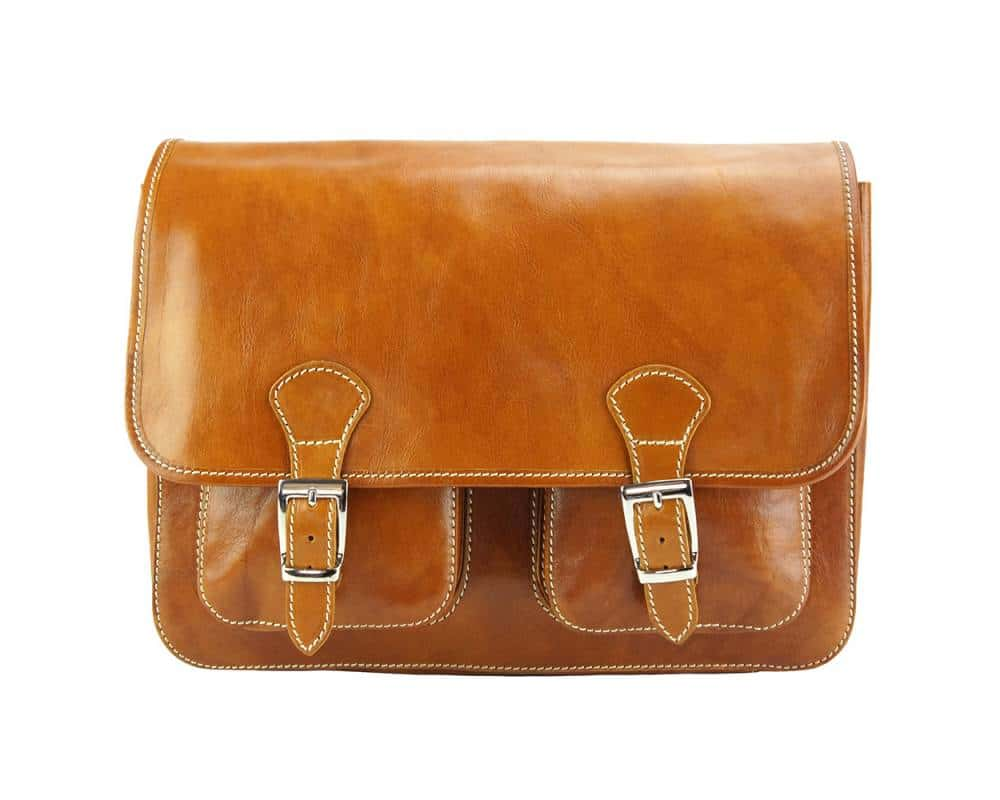 tan color briefcase in natural leather Tereza for men