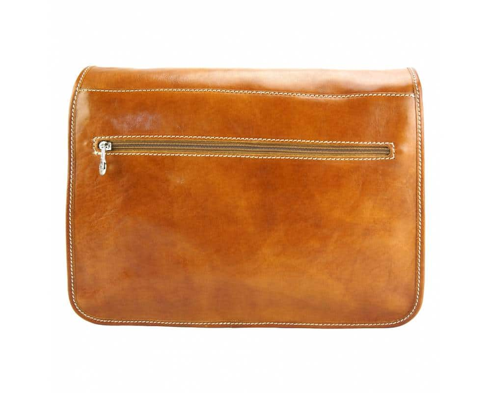 tan briefcase in natural leather Tereza for man