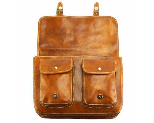 tan briefcase in leather Tereza unisex