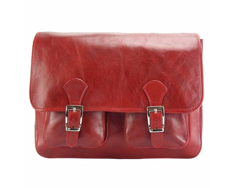 red briefcase Tereza unisex