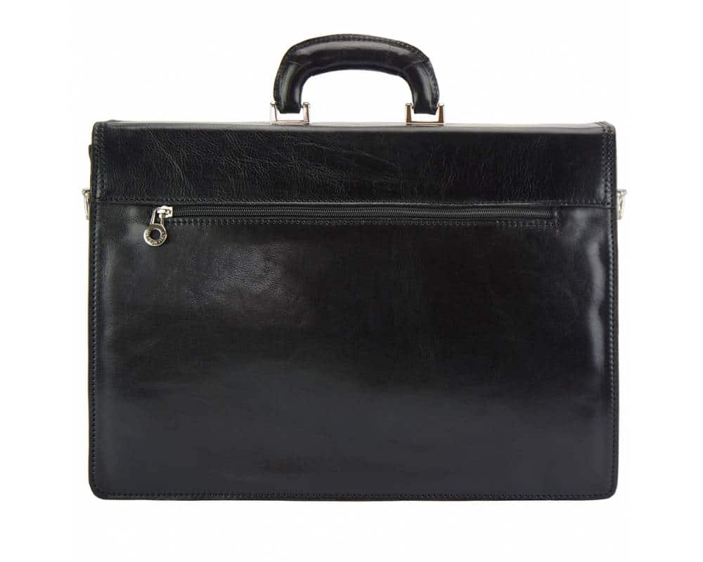 black briefcase in genuine leather Steliano for man