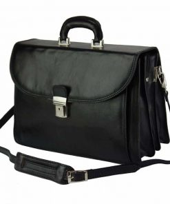 black briefcase Steliano for men