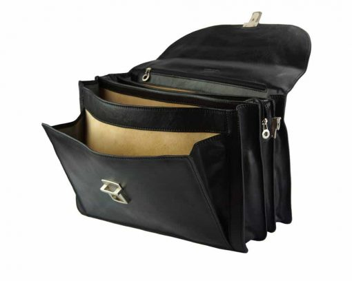 black briefcase Stefano for men