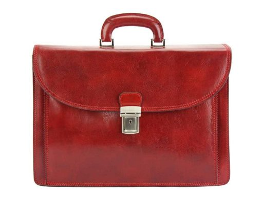 dark red briefcase Stefano for men