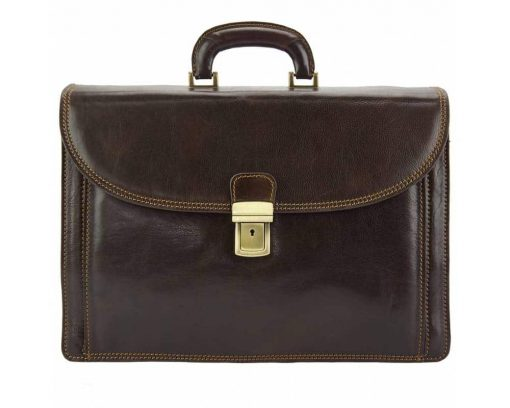 dark brown briefcase Stefano for man