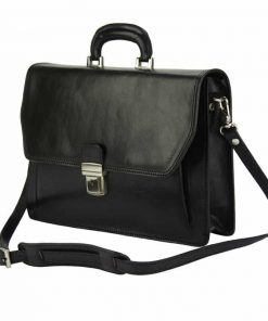 black briefcase in leather Vasilica for man