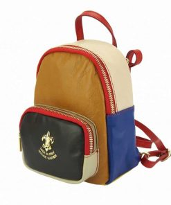 tan black light taupe red blue color backpack Virginia from italy for woman