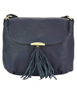 dark blue color bag in genuine leather Viorela for woman