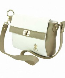 light taupe white cross body bag Valentina for woman