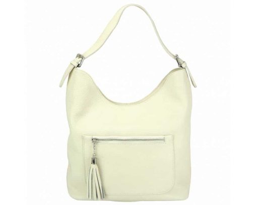 white shoulder bag in real leather Zaira for women