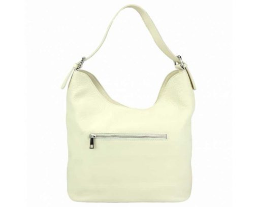 white shoulder bag in natural leather Zaira for women