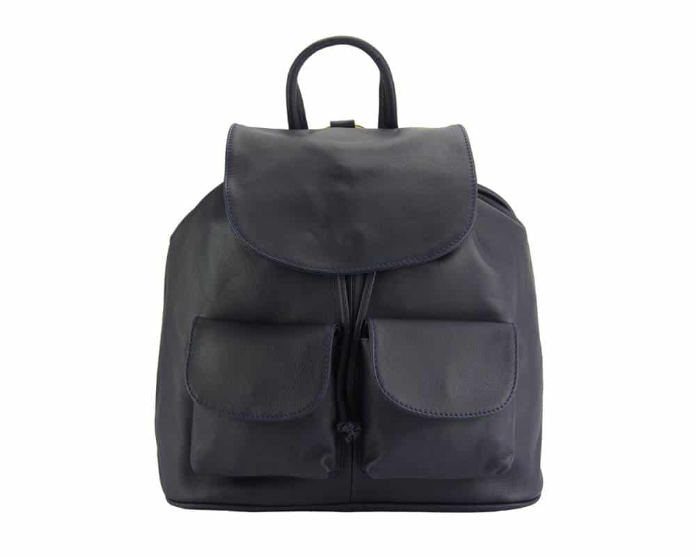 dark blue backpack constanta for man in real leather