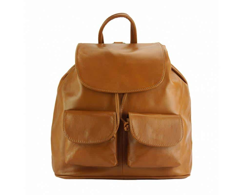 tan backpack constanta for man in natural leather for woman