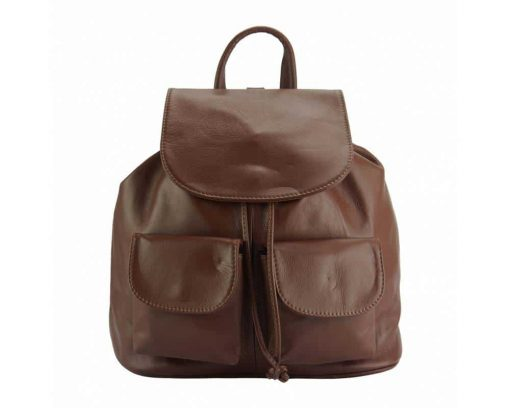 brown backpack constanta unisex in natural leather