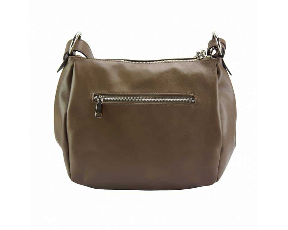 light taupe shoulder bag camelia for woman