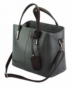 grey handbag cosmina in crocodile style for woman