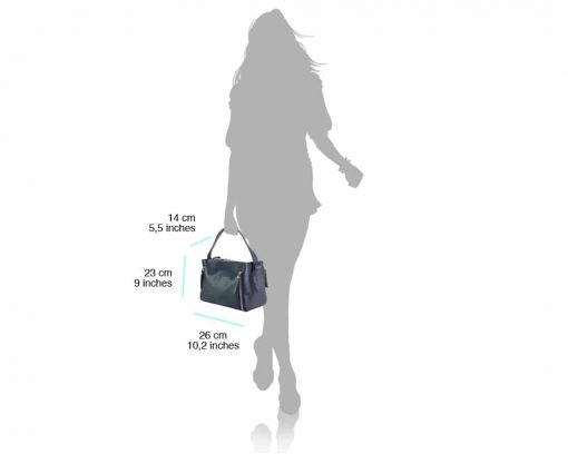 dark blue color bag in genuine leather Jasmine for woman