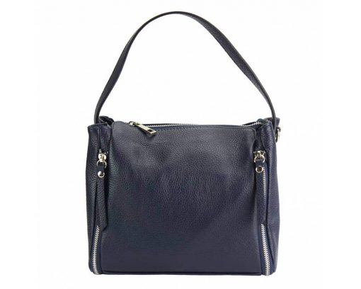 dark blue color bag in leather Jasmine for woman