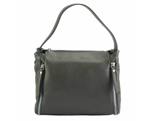 dark grey color bag in leather Jasmine for woman