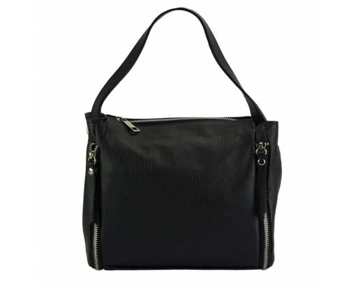 black color bag in leather Jasmine for woman