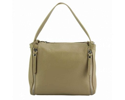 beige color bag in leather Jasmine for woman