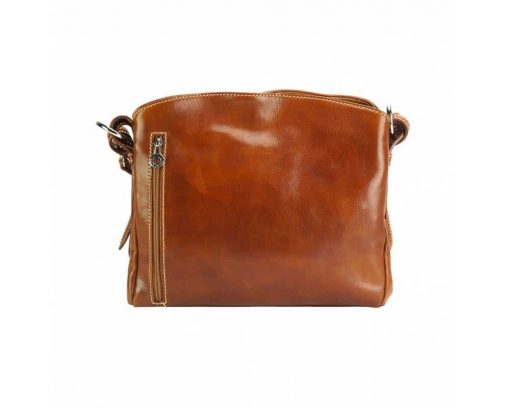 brown shoulder bag elizaveta in real rigid leather from italy