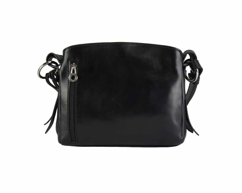 black shoulder bag elizaveta in real leather