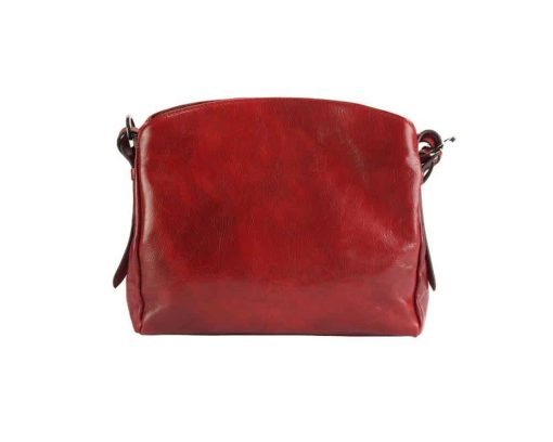 red bag elizaveta in real leather
