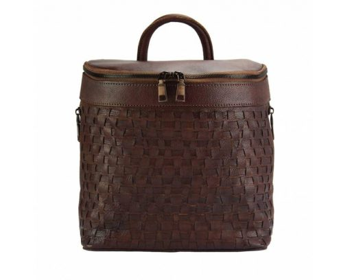 bordeaux backpack in woven natural leather ecaterina for man