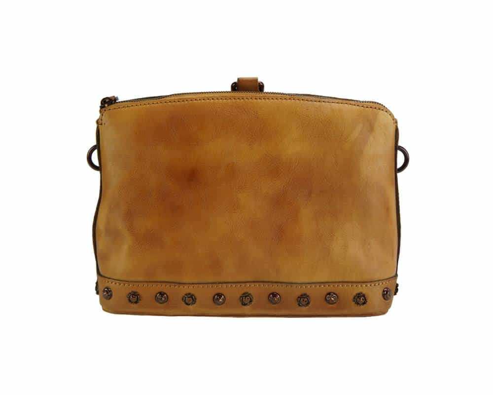 tan shoulder bag from genuine leather dorina for woman