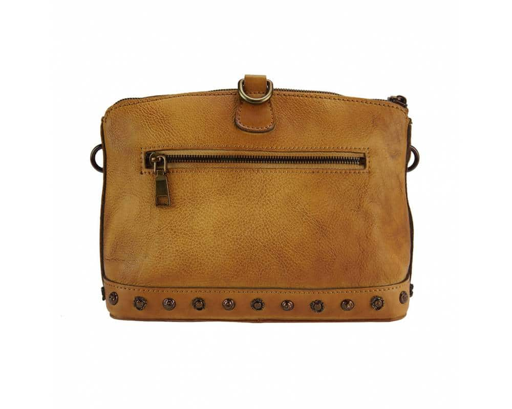tan shoulder bag from leather dorina for woman