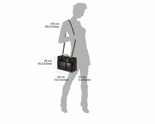 dark brown business bag for woman small