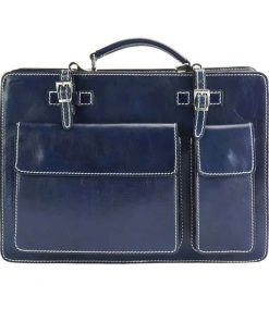 dark blue bag ilina in genuine leather for woman