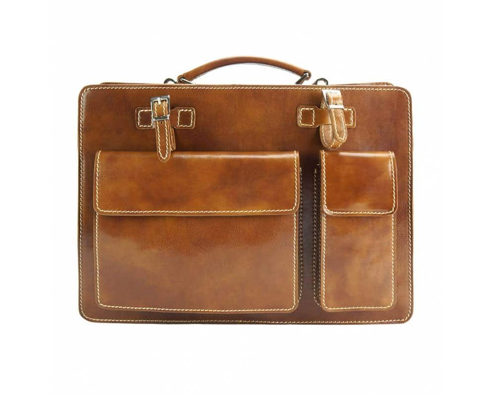 brown bag ilina in genuine leather from italy for woman