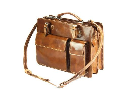 brown bag ilina in genuine leather from italy