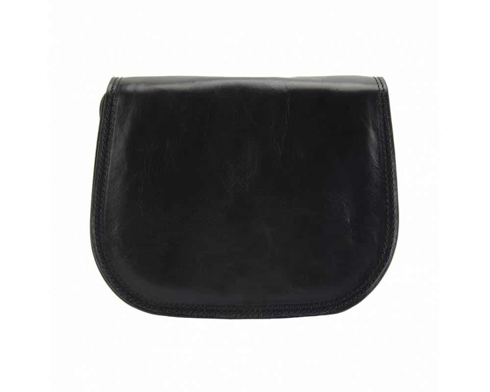 black cross body bag in genuine leather doina for woman