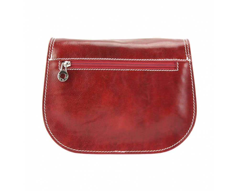 dark red cross body bag in genuine leather doina for woman