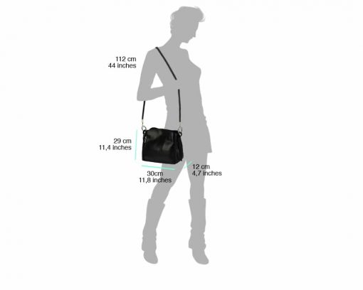 black bag for woman from italy