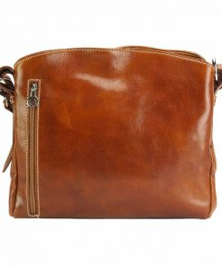 brown bag in natural rigid leather sofia