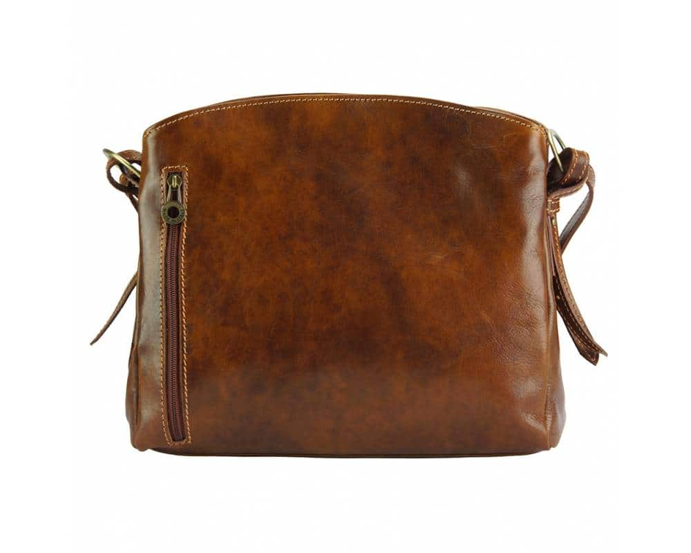 brown bag in genuine leather sofia