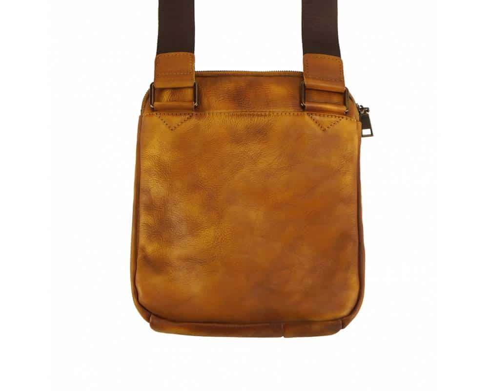 tan messenger bag vadim for men in soft genuine leather from italy