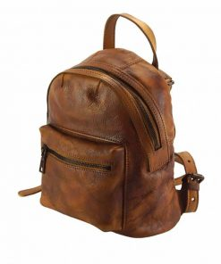 brown backpack bogdan in natural leather