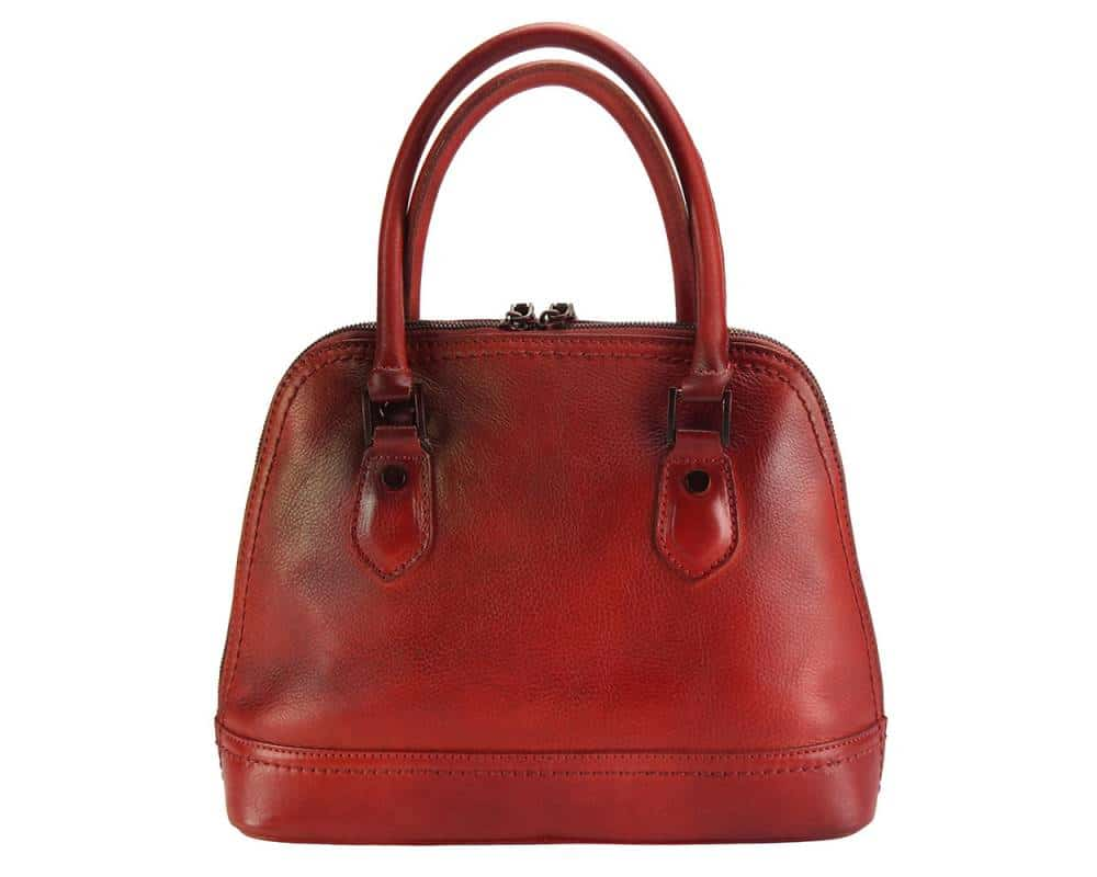 red bag andria in genuine leather