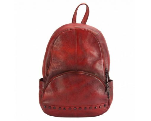 red backpack dica for woman