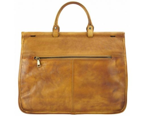 brown travel bag from woven genuine leather donca for man