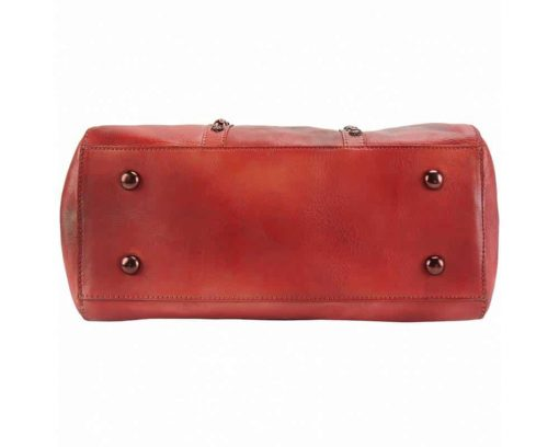 red bag bogna in vintage leather for woman