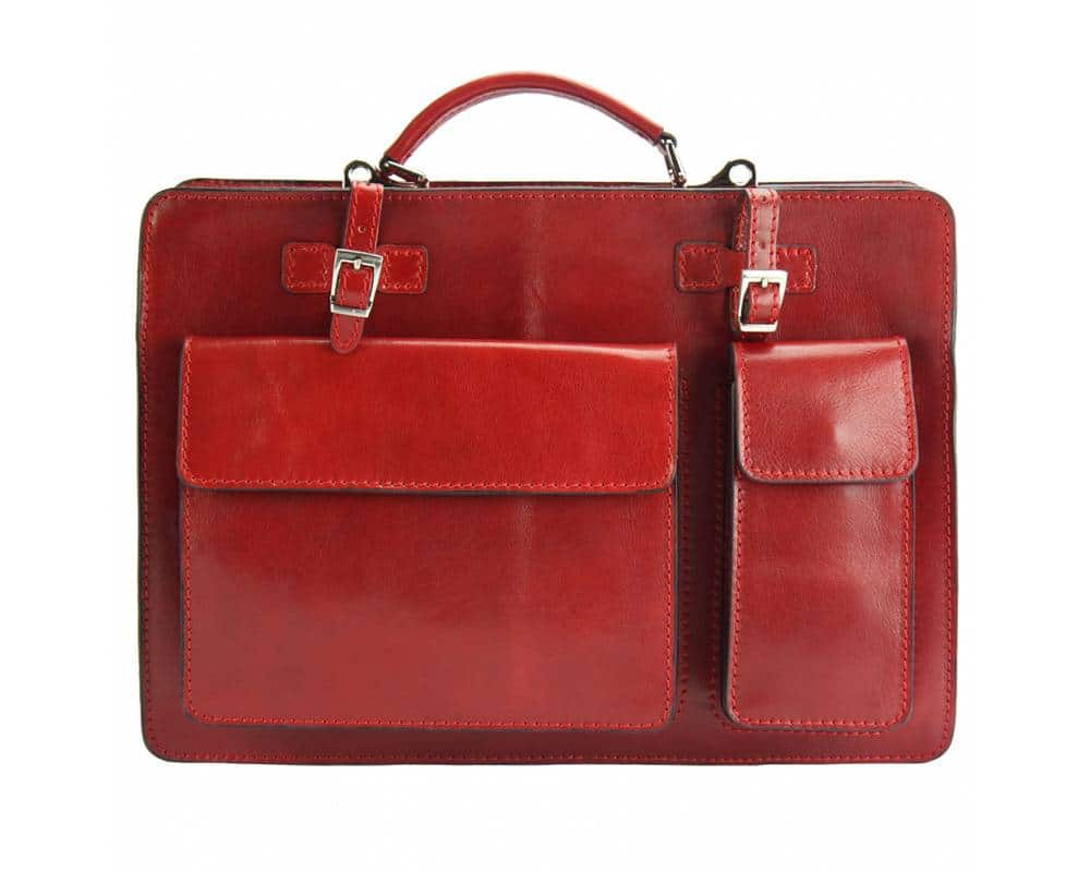 red business bag viorica from italy