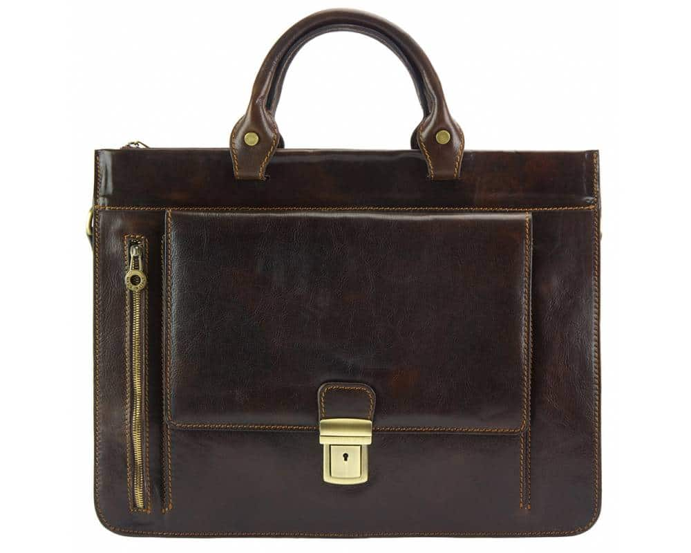 business bag in natural leather Alexandrina from italy