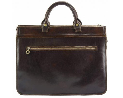 brown bag in real leather Alexandrina from italy