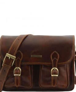 shoulder bag of vintage leather unisex from Italy